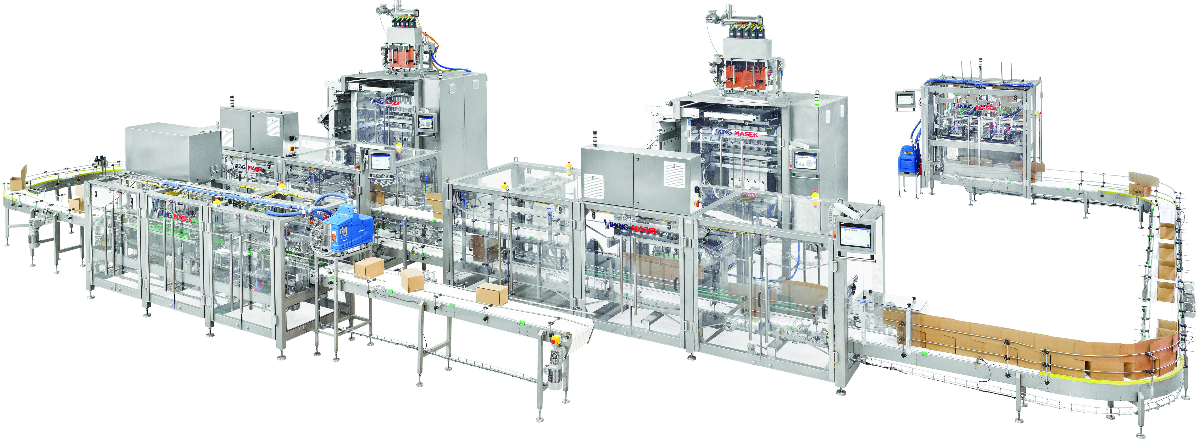 Cartoning Line for Multiple Machines